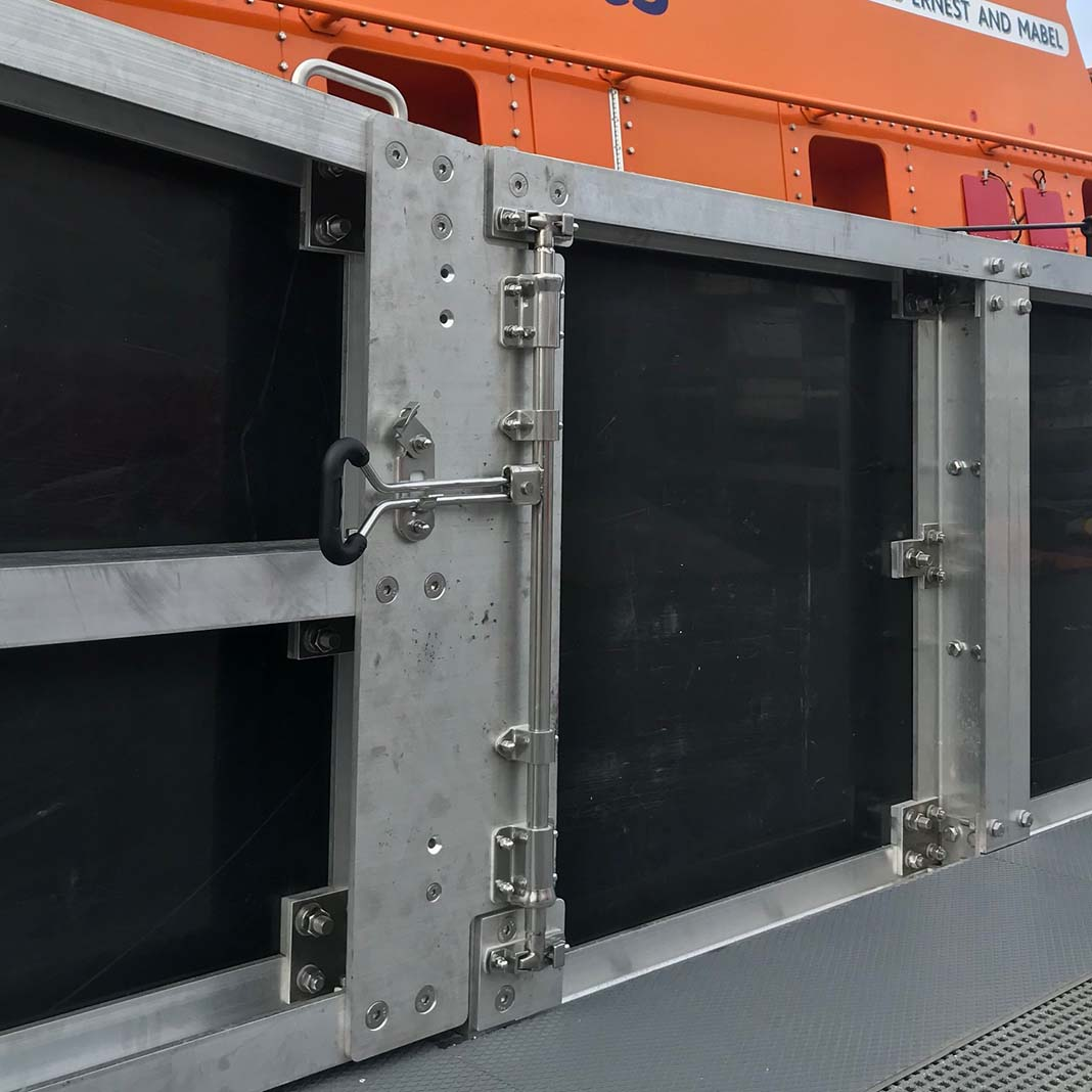 Bloxwich Door Gear BS2010N fitted at RNLI Weymouth by Cutlass Mechanical Engineering